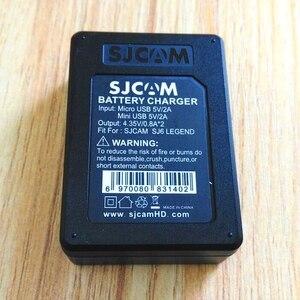 Image 3 - SJCAM aksesuarları orijinal SJ6 piller şarj edilebilir pil çifte şarj makinesi pil kutusu SJCAM SJ6 Legend eylem spor kamera