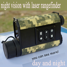 digital 6X32  monocular infrared day night vision goggles scope with rangefinder and compass Night Vision telescope for hunting цена
