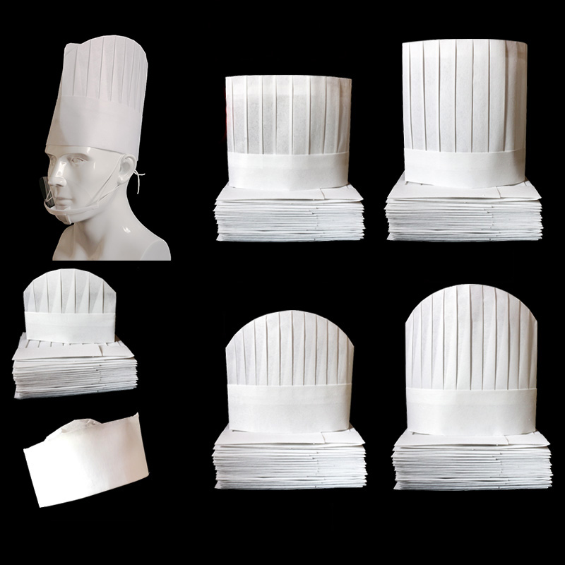 20 Pcs/lot Disposable Chef Hat High Quality Thicken Non-woven Fabric White Cook Cap Hotel Restaurant Bread Cake Baker's Hat