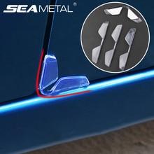 4pcs Universal Car Door Edge Guards Protector Bumper Car Anti-collision Strips PVC Sticker Auto Scratch Protection Moulding Side