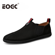 Fashion Men Casual shoes Spring Autumn men flats Slip on male suede Leather Loafers Shoes Moccasins zapatillas hombre size 37-47 цена