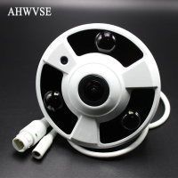 360 Degree IPC Wired IP Fisheye Camera 1080P HD POE IP Camera Indoor 1 7mm Lens