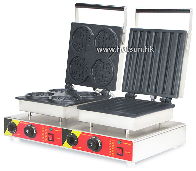 Free Shipping Commercial Non-stick 110V 220V Electric 2 in 1 Bear Waffle Stick + Churros Maker Machine free shipping commercial non stick 110v 220v electric 2 in 1belgium waffle stick churros maker machine