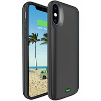 NENG A2 2in1 Support Wired Headset Ultra Thin Backup For Iphone X 5000mAh Battery Power Charger