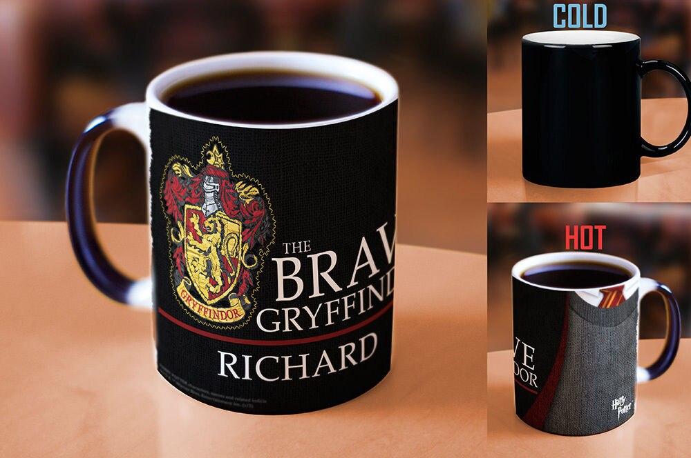 Hogwarts mugs Personalized NAME Hufflepuff mugs Slytherin mug Gryffindor mug Ravenclaw coffee heat reveal