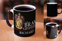 Hogwarts tassen Personalisierte NAME Hufflepuff tassen Slytherin becher Gryffindor becher Ravenclaw kaffee wärme zeigen