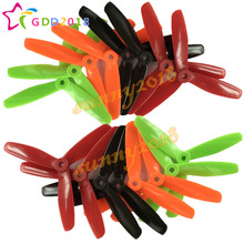 цена на New 24pcs / 12Pairs Enhanced Edition 5045 V2 3-blade glaze Props Propellers For FPV Mini QAV250 ZMR 250 270 280 Quadcopter