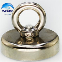 112KG Pulling Mounting Magnet Dia 60mm Magnetic Pots with Ring Lifting Magnet Strong Neodymium Permanent deep sea salvage magnet