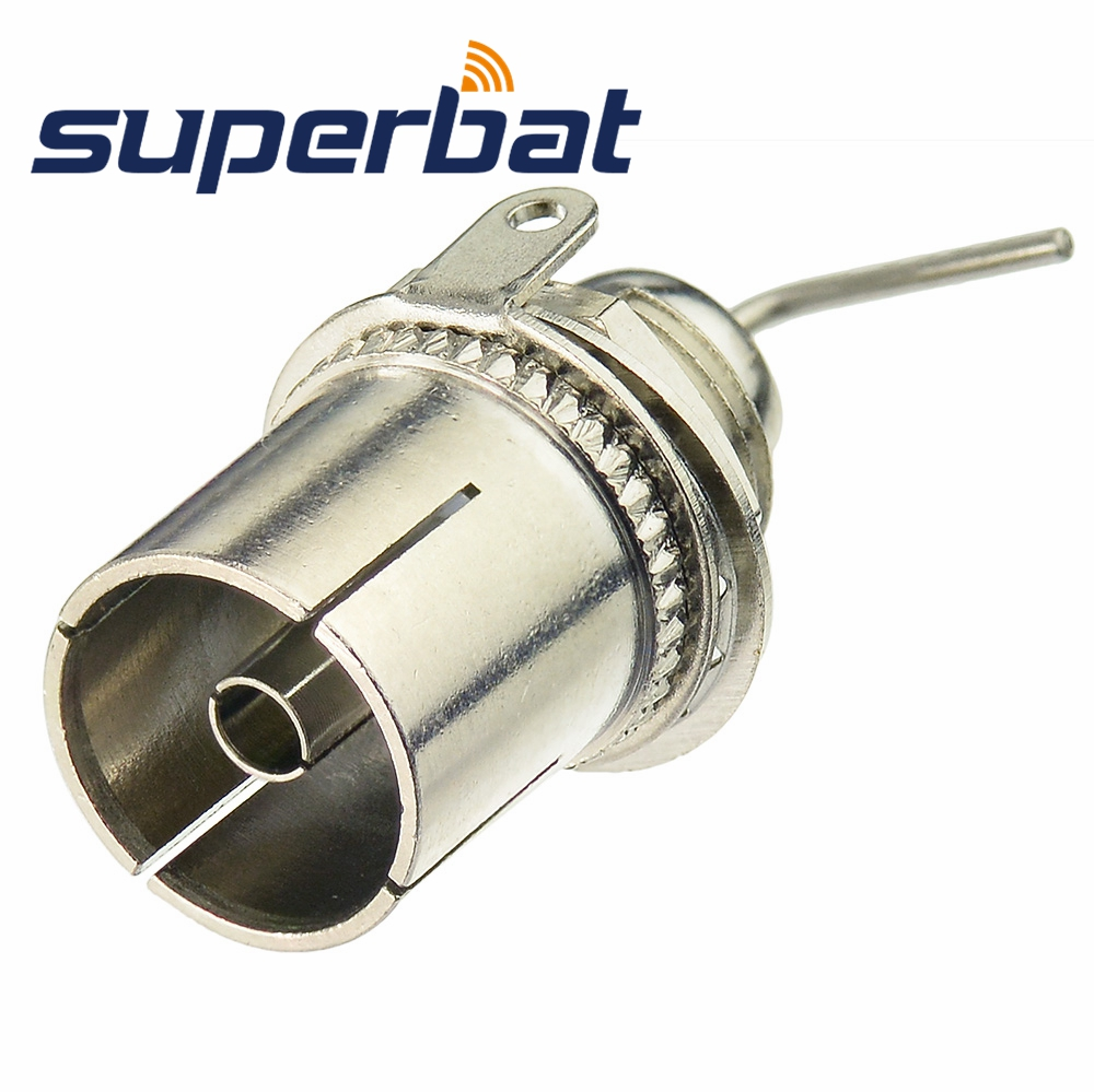 Superbat TV(PAL) Jack Female Bulkhead Straight RF Coaxial Connector For Antenna Cable