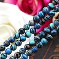 Blue stripe malachite turquoise round shape 6mm loose beads 15 inch DIY charming stone,women jewelry making design fashion style