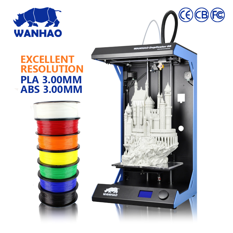 Large format high resolution UV flatbed 3d printer WANHAO D5S 3d printer on hot sale, with 2GB SD card and 1kg filament free hot sales 1 set 1000ml uv additives for epson uv flatbed printer with high quality metallic glass can be directly printed