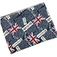 2 metro Tessuto di Cotone Canvas Union Jack Britannica UK Flag Giornale Stampato Tessuto Tessile Della Casa del Panno DIY Tovaglia Tissus Telas