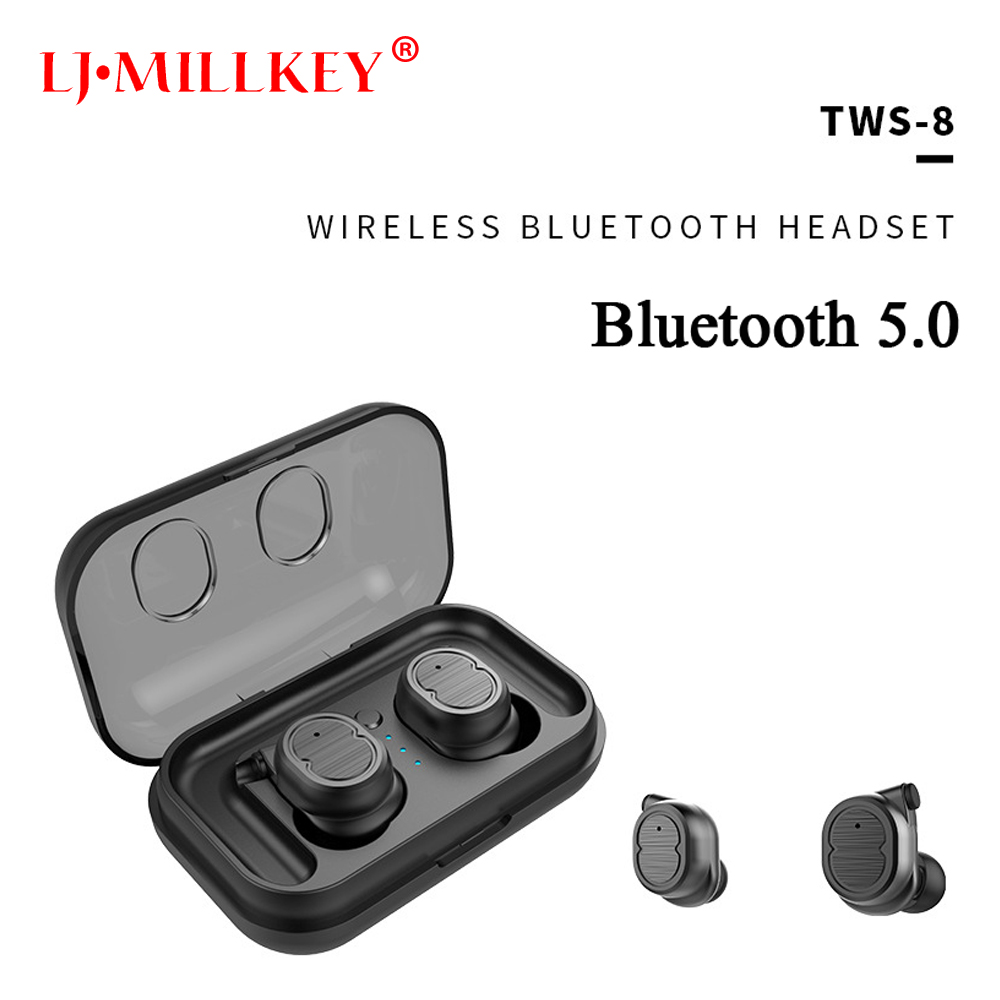 Bluetooth 5.0 LJ-MILLKEY TWS Mini True wireless Bluetooth Earphones Stereo Binaural Sports Dual Earbuds headset twins YZ206