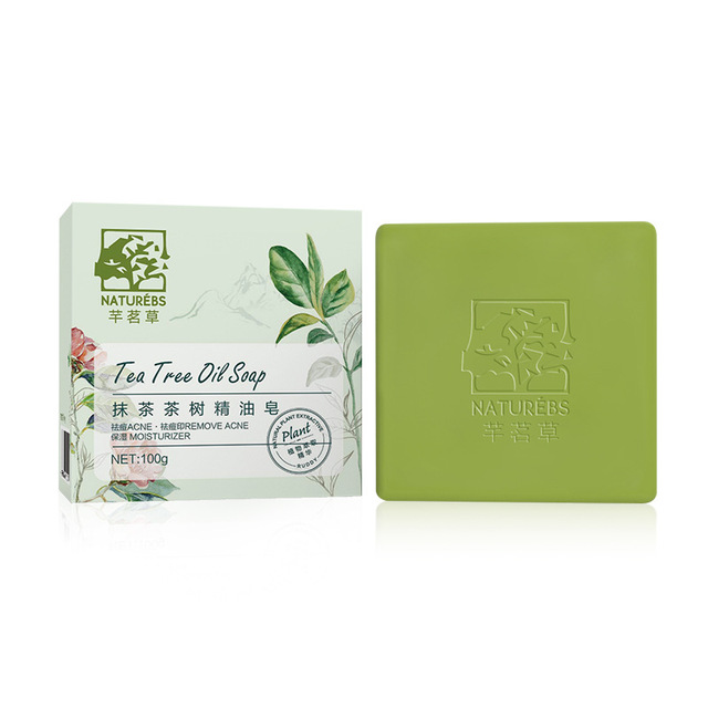Tea Tree Essential Oil Handmade Soap Moisturizing Acne Remover Soaps Oil Control Cleaning Skin Care p1 1