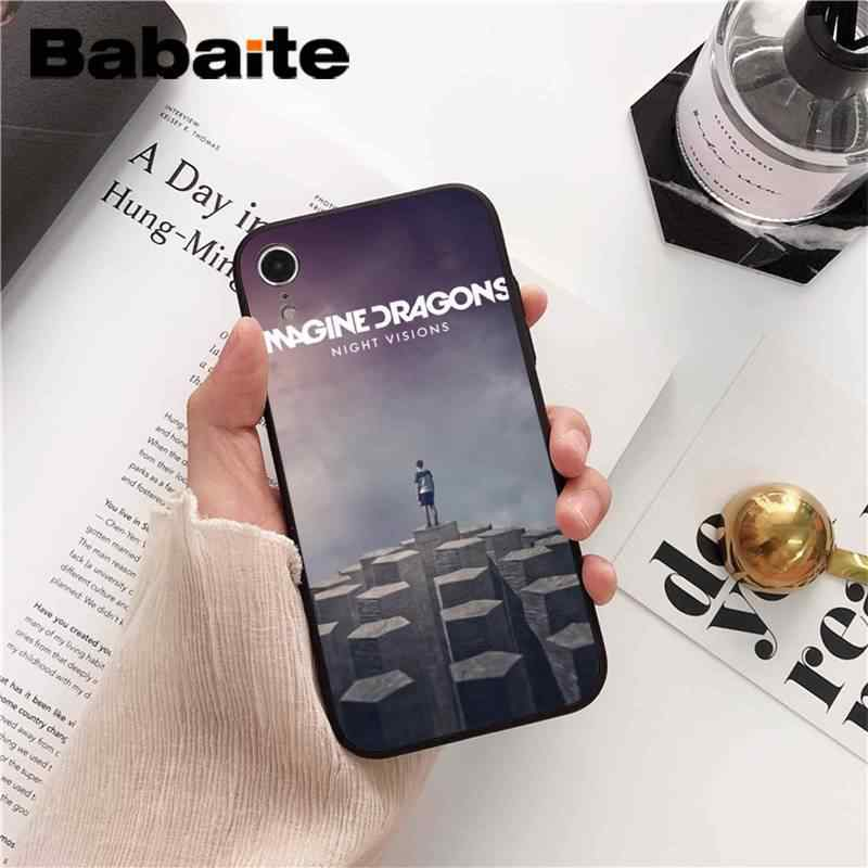 Babaite noche música imagine dragons música impresión teléfono funda para iPhone 8 7 6S 6Plus 5 5S SE XR X XS X MAX 11 11pro 11promax