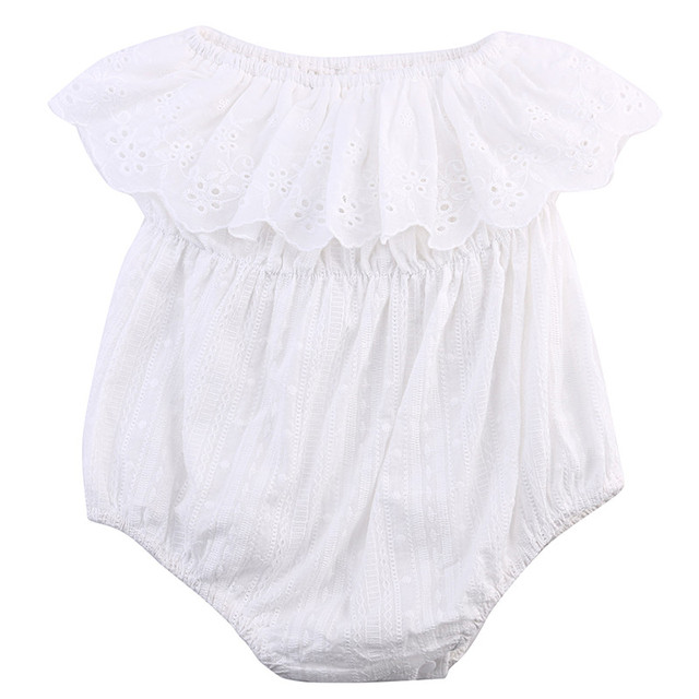 af1e54343 2017 Newborn Baby Summer Rompers Infant Baby Girl Cotton Lace Romper ...