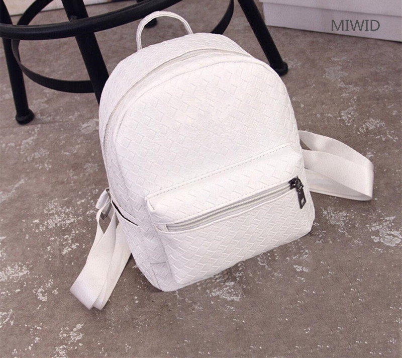 2017 new mini shoulder bag female tide casual PU small backpack fashion woven student bag0201 2017 small fresh mini shoulder bag with three pairs of ears can replace the small backpack cute modeling trend backpack y088