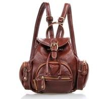 Fashion Real Genuine Leather Women's Backpacks Cowhide Leather Backpack Mini Shoulder Bag Ms School Bag Travel Backpack MD-J3102