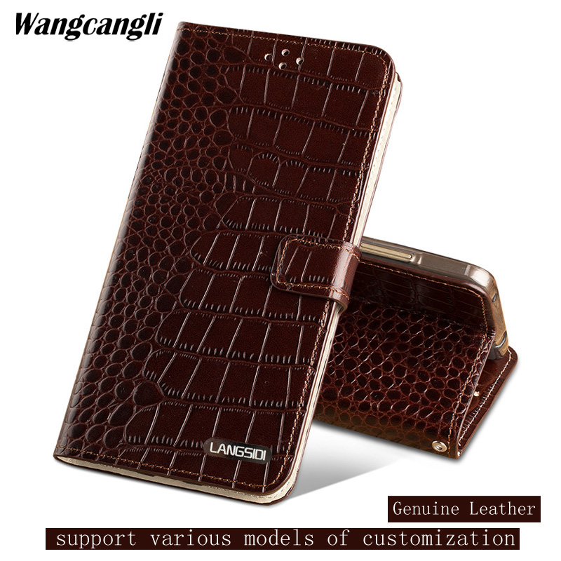 Handmade Crocodile pattern phone case for LG G7 Genuine Leather Phone protection Case Business Clamshell buckle  shellHandmade Crocodile pattern phone case for LG G7 Genuine Leather Phone protection Case Business Clamshell buckle  shell
