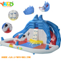 YARD  Shark Inflatable Water Slide With Pool with Blower , Middle size Inflatable toys ,Inflatable Trampoline