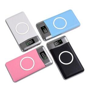 Image 5 - チーワイヤレス充電器 Protable の外部バッテリ電源銀行デュアル USB 電話充電 iphone 8 サムスン S8 注 8 9 bateria 充電