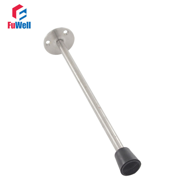 Wall Mounted Door Stops 250mm Length Stopper Stainless Steel Bedroom Catches Holder Latch