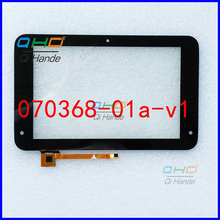 "Black New For 7"" inch PockBook Tablet PC Digitizer glass sensor Touch Screen Panel Replacement part 070368-01a-v1 Free Shipping"