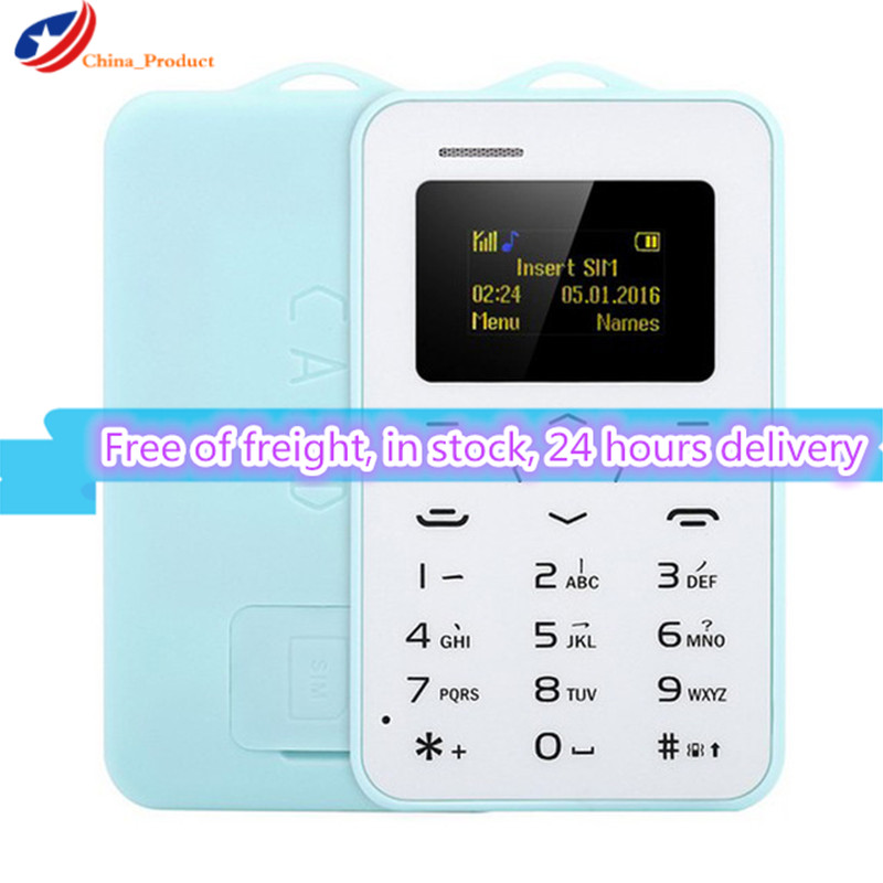Low Wholesale price 10pcs/lot AEKU C6 Ultra Thin Mini Cell Phone Student Version Credit Card Children Mobile Phone Bluetooth