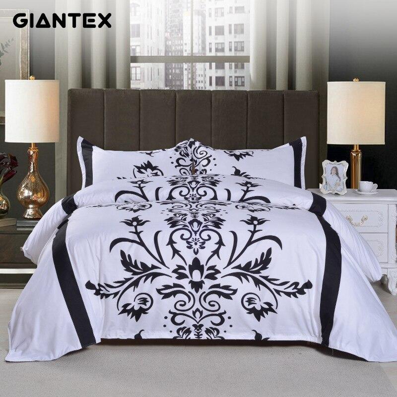 GIANTEX 3 Pcs Floral Print Bedding Set Pillowcase Duvet Cover Set Queen Size Home Textile 45GIANTEX 3 Pcs Floral Print Bedding Set Pillowcase Duvet Cover Set Queen Size Home Textile 45