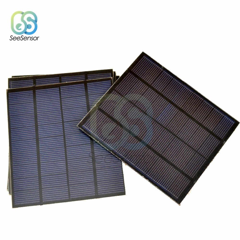لوحة طاقة شمسية صغيرة 0.05 وات 0.6 وات 1 وات 1.5 وات نظام طاقة شمسية ذاتي الصنع لبطارية الخلايا الشمسية شاحن هاتف خلوي 0.5 فولت 6 فولت 9 فولت إضاءة منزلية