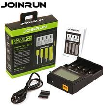 Joinrun S4 شاحن بطاريات ذكي 18650 شاحن LCD شاشة ليثيوم أيون 18650 14500 16340 26650 AAA AA دعم DC 12V شاحن سيارة