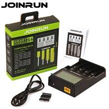 Joinrun S4 Smart Batterie Ladegerät 18650 ladegerät LCD Screen Li Ion 18650 14500 16340 26650 AAA AA Unterstützung DC 12V auto Ladegerät