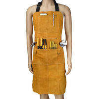 Work Wear Men's Safety Clothing Overalls Protective Cloth Workers Repairman Machine Car Repair Welding Apron Leather DFW040