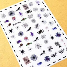 Newest WG-03 rainforest and insect design 3d nail sticker decals  rhinestones back glue DIY decorations