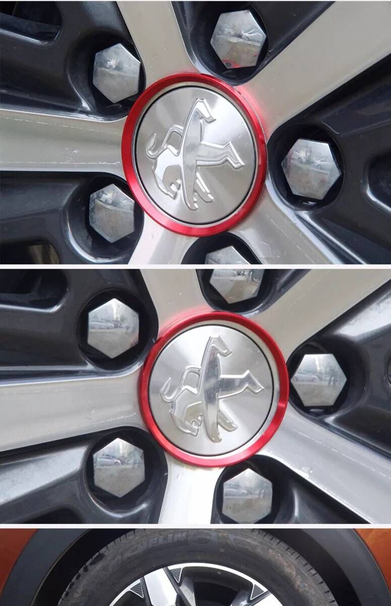 Hot Sale Car Styling Ring Wheel Hub Decoration Circle For Peugeot 3008 4007 4008 5008 508 RXH SW Partner 308 508 RCZ Accessories