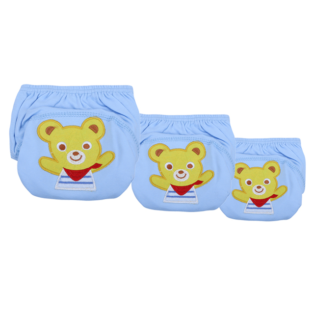 f38520c7d Cute Cartoon Baby Training Washable Cotton Diapers Learning Pants Infants  Reusable Waterproof Cloth Nappies High Quality