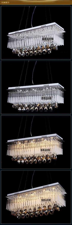 Modern First-class K9 Crystal Chandelier Lamp,The Rectangular Crystal Dining Chandelier Light Fixtures
