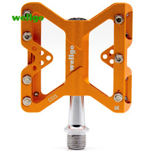 Wellgo MTB Bike Pedal Aluminum Sealed Bearing Bicycle Pedals Cycling Folding Fixed Gear Road Parts Accessory C225 Anti-Skid