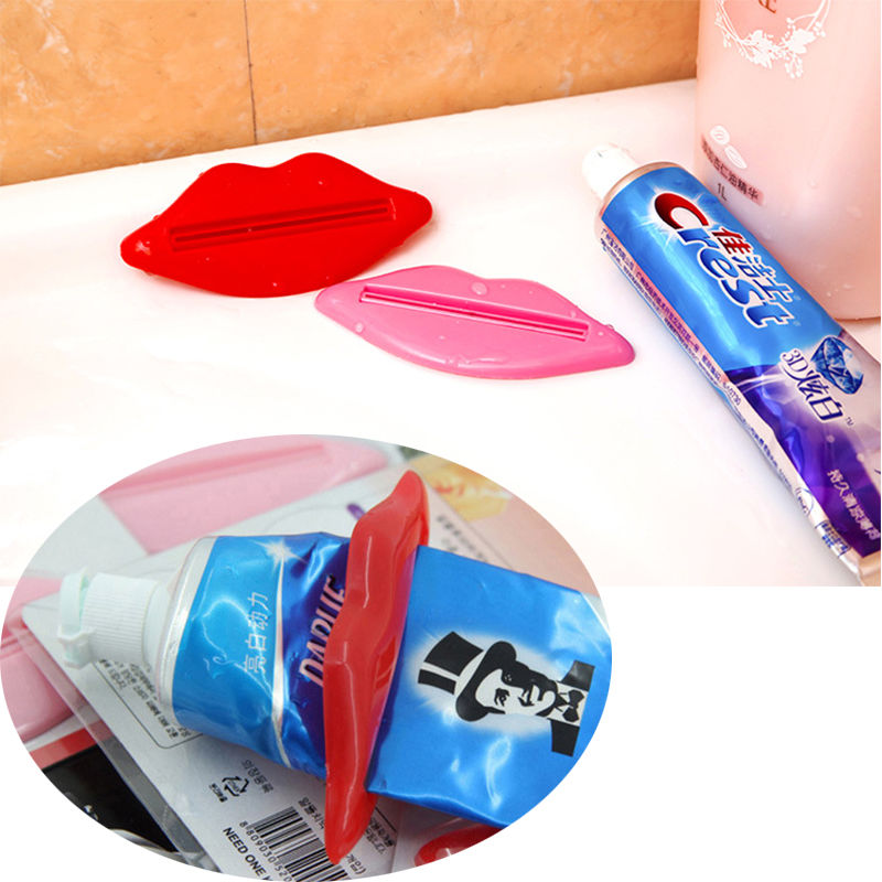 4 Pcs Toothpaste Squeezer Pack Mouth Lip Kiss Shape