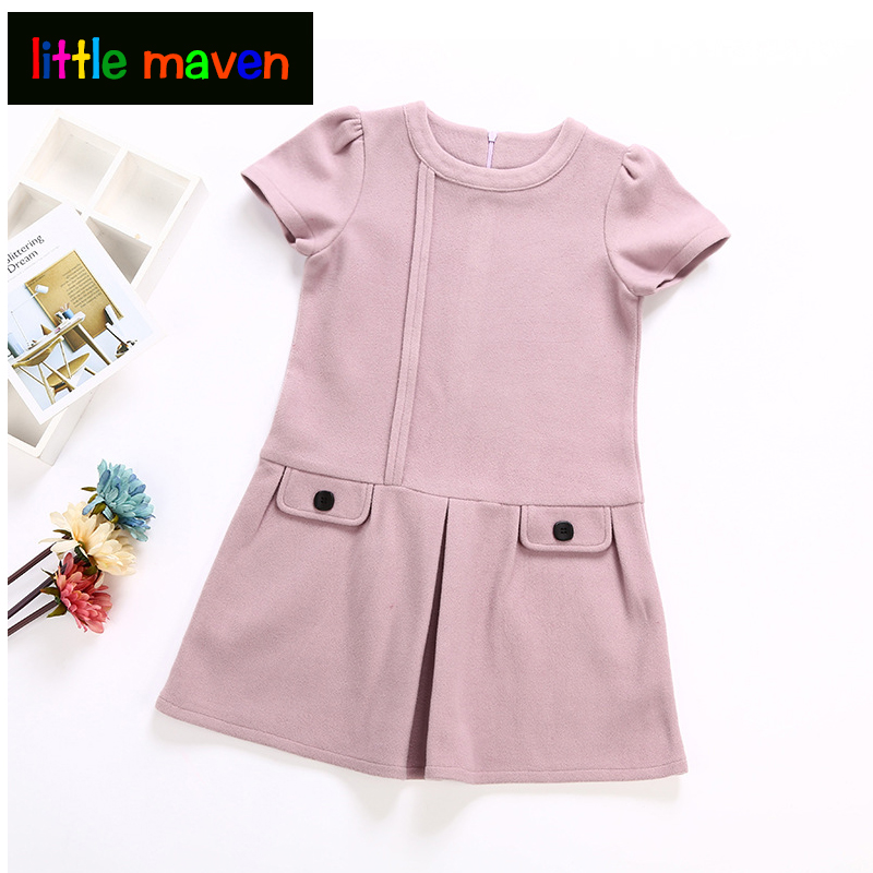 Girls Dress 2018 Autumn Winter Kids Warm Clothes O-neck Unique Design For Children Clothing 2-10Y Party Princess Dresses uoipae party dress girls 2018 autumn