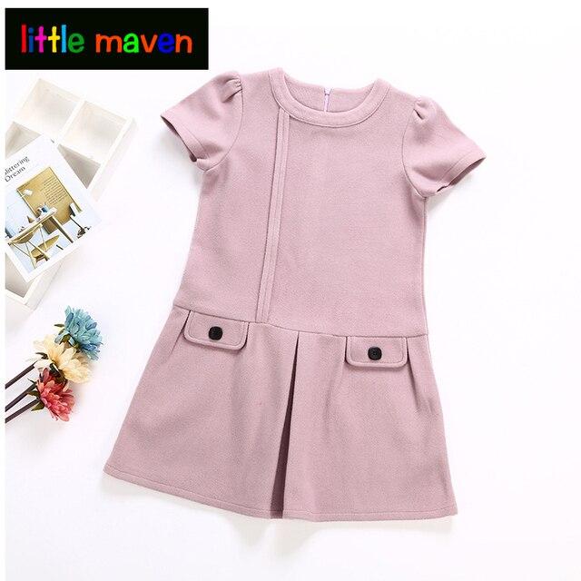 Baby Clothes Unique Designs | Girls Dress 2018 Autumn Winter Kids Warm Clothes O Neck Unique