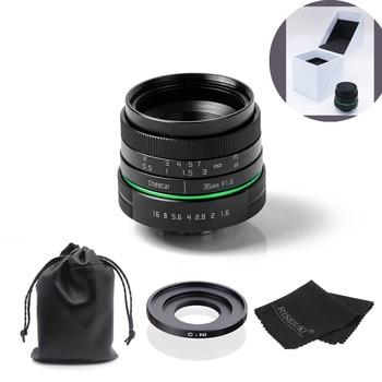 New green circle 35mm APS-C CCTV camera lens For Nikon1:V1,J1,V2,J2 with C-N1 adapte ring + bag +gift + big box