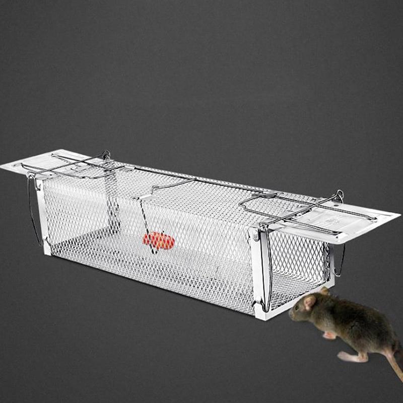 1 x Mousetrap Cage Bait Snap Rodent Catcher Mice mousetrap CageReusable Double Door Catching Mice Mouse Traps