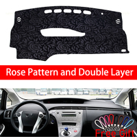 Rose Pattern For Toyota Prius 2012 2013 Dashboard Cover Car Stickers Car Decoration Car Accessories Interior Car Decals