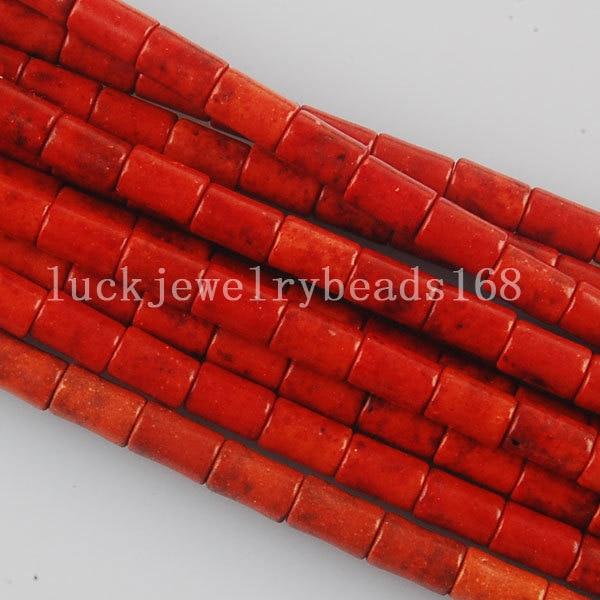 02229e0a03c Frete Grátis Bijuterias 4x6mm Marrom Coluna Howlita Contas Loose 1 Pcs 15.5  FG6056