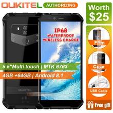 OUKITEL WP1 5,5 »HD + 18:9 дисплей IP68 водонепроницаемый смартфон MTK6763 Восьмиядерный 4 Гб ОЗУ 64 Гб ПЗУ 5000 мАч батарея мобильный телефон