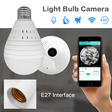 SDETER Bulb Lamp Wireless IP Camera Wifi 960P Panoramic FishEye Home Security CCTV Camera 360 Degree Night Vision Support 128GB