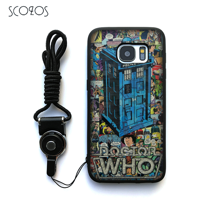 SCOZOS doctor dr who tardis Silicone Phone Case Cover For Samsung Galaxy S6 S7 S7 edge S8 S8 Plus J3 J5 J7 A3 A5 A7 2016 Note 8