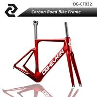 Top China Carbon Fiber Road Bicycle Frame Fork Seat Post Clamp Hanger Aero Bike Bicicleta Racing
