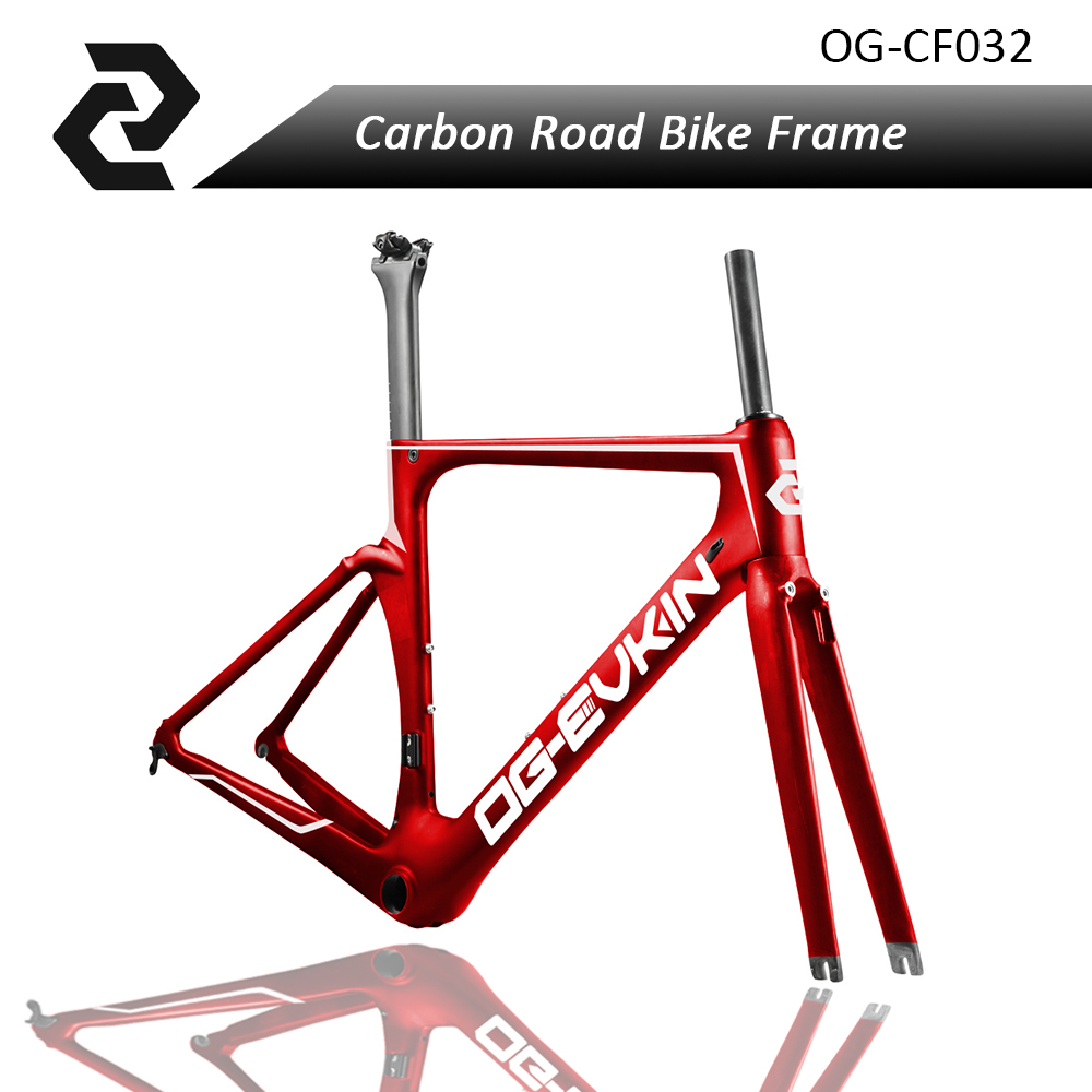 T800 Carbon Aero road frame Bike UD Bicicleta Di2 and Mechanical Racing Bicycle Carbon frame 49 52 54 56 59cm Frameset BB86 Red 2017 flat mount disc carbon road frames carbon frameset bb86 bsa frame thru axle front and rear dual purpose carbon frame